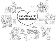 Dibujos para catequesis: LAS OBRAS DE MISERICORDIA