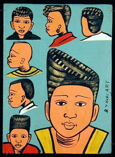Indigo Arts Gallery | African Barber Signs | Togo