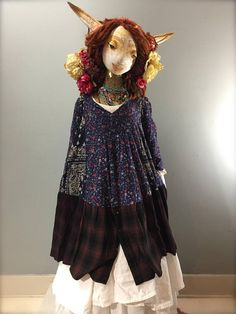 Hey, I found this really awesome Etsy listing at https://www.etsy.com/listing/568069089/l-navy-wine-patchwork-dress-print-mix