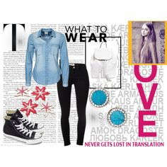 For school by ajmalina on Polyvore featuring мода, Vero Moda, Frame Denim, Converse, Rebecca Minkoff and Panacea
