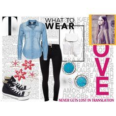 For school by ajmalina on Polyvore featuring мода, Vero Moda, Frame Denim, Converse, Rebecca Minkoff and Panacea