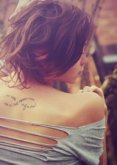 Love this, would have on the wrist though and saying 'for you I shall live'