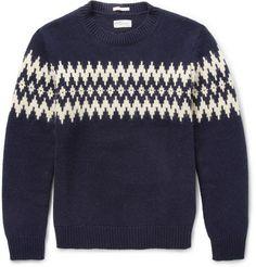 Gant Rugger Fair Isle-Jacquard Wool-Blend Sweater | MR PORTER