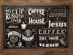 Coffee Bar Chalkboard Sign Feb 2016