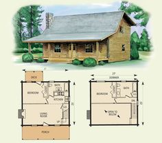 wilderness log home and log cabin floor plan - Cabin Floor Plans