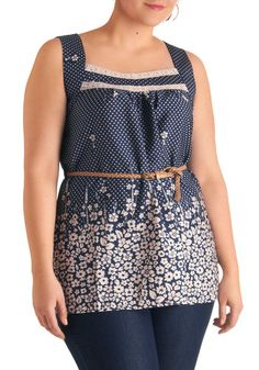 Flowered in Praise Top in My Size something new for under cardigans