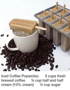 Iced Coffee Popsicles - #Coffee, #HowTo, #Popsicles
