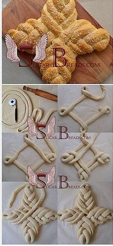 Easter bread (video) Sugar & Breads in Russia Quick Bread, How To Make Bread, Bread Recipes, Cooking Recipes, Pan Relleno, Sugar Bread, Bread Art, Bread Shaping, Braided Bread