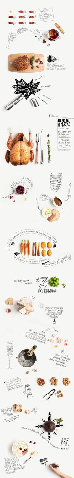 Food infographic From sprouts to Bread Sauce. A life-sized banner seems in order. Happy Crimbo Infographic Description From sprouts to Bread Sauce. A life-sized banner seems in order. Web Inspiration, Graphic Design Inspiration, Food Design, Corporate Design, Grafik Design, Food Illustrations, Editorial Design, Typography Design, Lettering
