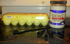 Simply heat up the 2 tbsp. coconut oil and mix with with 1 egg then apply to your hair. After hair is saturated, put up in a hair cap and let sit 45 minutes. Then rinse with your favorite shampoo and conditioner. Diy Hair Treatment, Hair Treatments, Natural Hair Care, Natural Hair Styles, Diy Haircare, Tips Belleza, Beauty Recipe, Beauty Hacks, Beauty Tips