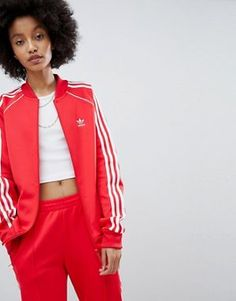 Adidas Originals Superstar Veste de survêtement Rose ✔ ✔ [Adidas Promo]