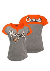 Cincinnati Bengals Womens Grey Slub T-Shirt