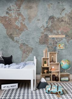 172 best Tapeten f    r Kinderzimmer images on Pinterest Weltkarte Tapete Around the World von Rebel Walls
