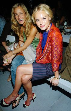 Kate Bosworth at Marc Jacobs in 2005 during fashion week