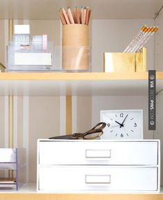 Awesome - fab home office storage closet makeover by | CHECK OUT MORE FIREPLACE IDEAS AT DECOPINS.COM | #homeoffice #office #home #officedecor
