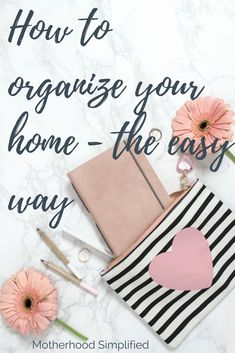 How to organize your home - the easy way. You cannot organize clutter, so the first step is to purge and declutter! This is perfect for Spring cleaning, and the absolute best way to begin your journey to a clutter free home.