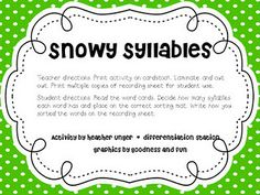 Snowy Syllables {free download}