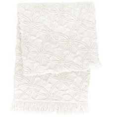 Candlewick White Throw by Cottage and Bungalow | http://www.cottageandbungalow.com/pch-candlewickwhitethrow.html