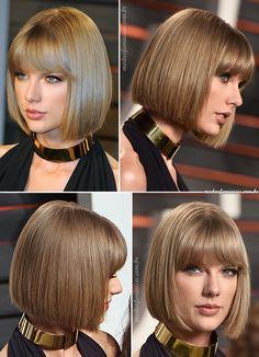 Corte de cabelo chanel bob – Hair Taylor Swift inspira o look   Short Hair,  short haircuts  Short Hairstyles, Haircuts for 2017 http://modaefeminices.com.br/2017/02/03/corte-de-cabelo-chanel-bob-taylor-swift-inspira-o-look/