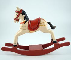 Woodworking gift ideas include wooden rocking horses.