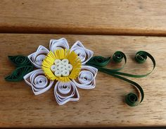 quilled white flower #quilling
