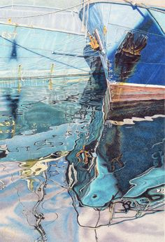 Fremantle Blue I. Original artwork by Geoff Sargeant. Pencil Painting, Western Australia, Natural World, Cool Artwork, Pencil Drawings, Colored Pencils, Original Artwork, Art Photography, Cool Stuff