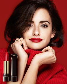 Penelope Cruz for Lancome Beautiful Lips, Beautiful Women, Penelope Cruze, Winter Typ, Lady, Spanish Actress, Red Lipsticks, Matte Lipstick, Lancome