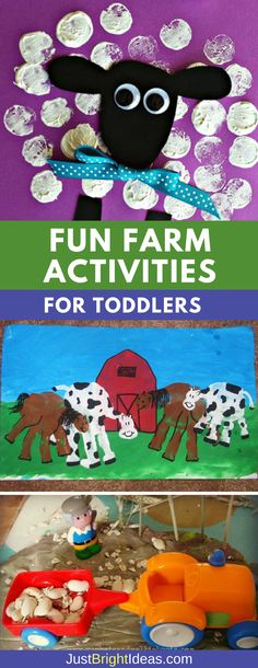Fun farm activities for toddlers to help your tot learn all about farm animals, . - Fun farm activities for toddlers to help your tot learn all about farm animals, … - Farm Theme Crafts, Farm Animal Crafts, Animal Crafts For Kids, Art Activities For Toddlers, Farm Activities, Spring Activities, Lesson Plans For Toddlers, Farm Animals Preschool, Preschool Crafts