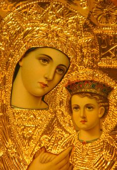 Christianity: Greek Orthodox Madonna and Child - Greek Orthodox Church in Lyon Jesus And Mary Pictures, Images Of Mary, Mary And Jesus, Divine Mother, Blessed Mother Mary, Blessed Virgin Mary, Religious Images, Religious Icons, Religious Art