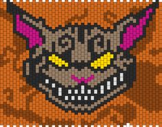 Alice In Wonderland Madness Video Game Cheshire Cat bead pattern