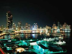 Panama City, Panama  Since I've only ever seen this city in the dark, I think it's only fair to put a picture of it at night LOL.