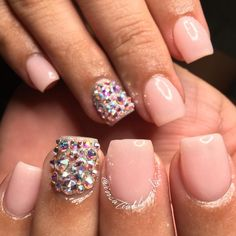 """""""Gorgeous acrylic overlay on her natural nails!  using #nsiacrylic…"""