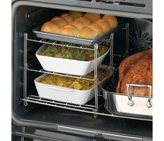 To have room in oven for Thanksgiving meals-Nifty 3-Tier Oven Companion   CHEFScatalog.com