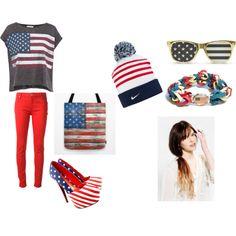 """USA!!!!!!!!"" by kaileyjmalik on Polyvore"