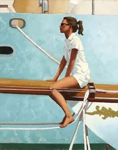 Jack Vettriano Masthead painting for sale - Jack Vettriano Masthead is handmade art reproduction; You can shop Jack Vettriano Masthead painting on canvas or frame. Jack Vettriano, Edward Hopper, The Singing Butler, Charles Trenet, Monaco, Yacht Club, Art Plastique, Paintings For Sale, Illustration