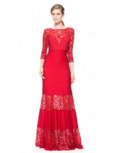 Tadashi Shoji Pintuck Jersey Gown with Sweetheart Illusion Neckline