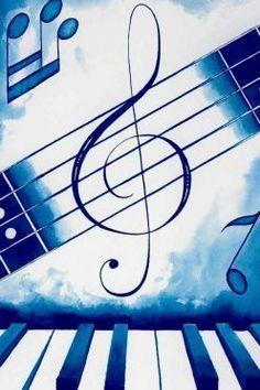 music musique bleu note