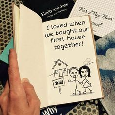 It's the most unique anniversary gift ever! Create your own personalized gift book that lists all the reasons why you love someone.