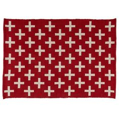 5' x 8' Indoor Outdoor Rug (Red) from The Land of Nod $229