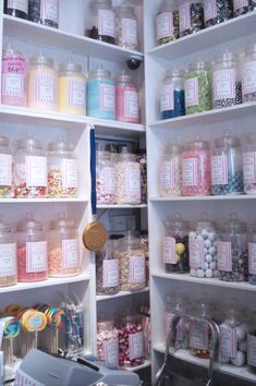 its decided...this is what we want to store all of our sprinkles and sugars in. love the look of glass jars.