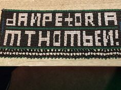 1960-1970s rare Ndebele Ipometi (permit) from South Africa. Beaded to read like an apartheid pass--DanPetoria (from Pretoria), Mthombeni (the maiden name of the maker Johanna Mtsweni of Louwfontein). Worn by married women during ceremonies. Collected by Jenna Haselton who gre up near Ndebele. Cultural Artifact, Xhosa, African Beads, Freedom Of Movement, Married Woman, Geometric Shapes, South Africa, Folk Art, Glass Beads
