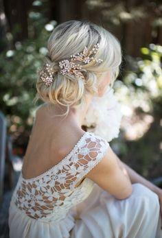 Lottie-Da Designs Hair Pieces for Every Bride frisuren haare hair hair long hair short Boho Wedding Hair, Bridal Hair Vine, Wedding Hair Pieces, Wedding Hair And Makeup, Wedding Hair Accessories, Wedding Jewelry, Trendy Wedding, Dress Wedding, Bridesmaid Dress