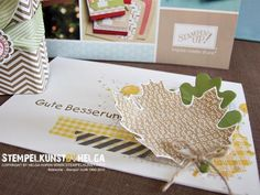 We love the creative mix of patterns and layers on this card.