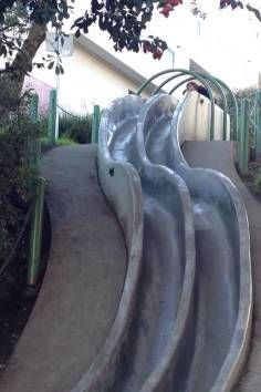 Seward Street Slides. Take a ride down these slides in San Francisco!