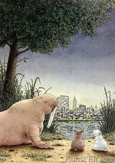 Hans De Beer - Kleiner Eisbär, nimm mich mit! Skyline bei Nacht