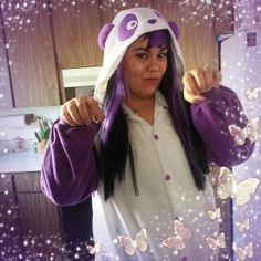 I am a purple panda!!! :3 I love my panda Kigurumi  Photo by David Nguyen Photography