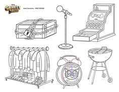 Gravity Falls Prop Design - Andy Gonsalves.com - It's Meow O'Clock