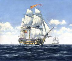 """San Juan Nepomuceno"" | Carlos Parrilla Penagos - Pintura naval"