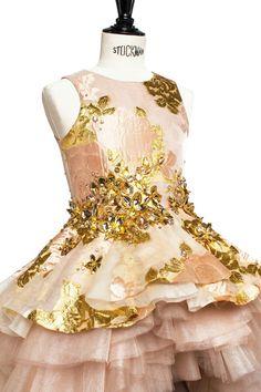 Gouden jurk-Mischka Aoki Spring lente zomer 2016-GoodGirlsCompany