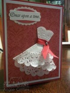 Idea for diy Bridal shower invites made with doilies